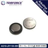 Cellule alkaline de bouton Chine d'usine libre de Mercury&Cadmium pour la montre (1.5V AG9/LR936)