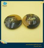 Padrão decorativas cubra os botões de poliéster de acabamento brilhante da Haste