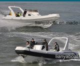 Bateaux gonflables militaires de bateaux militaires de côte de Liya 27FT à vendre