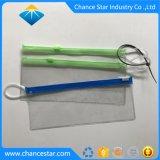 Il sacchetto di plastica della chiusura lampo del PVC glassato marchio su ordinazione con Anello-Tira