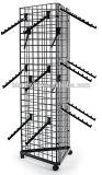Gridwall Slatwallのハングのホックのための3つの方法格子パネルの金属線の陳列だな