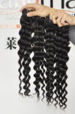 Capelli umani profondi di estensioni 100% dei capelli dell'onda del Virgin malese