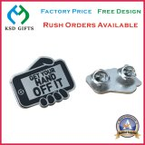 Los elementos de promoción de metal de acero inoxidable Imprimir insignia de solapa (KSD-1136)