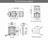 La aprobación Cnlinko TUV/UL/CCC soldar el cable submarino de potencia con protección IP65/IP67 Conector Conector TIRA DE LEDS
