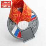 Hot Sale Custom Alliage de zinc moulé sous pression, Champion médaille avec cordon rouge standard