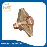 Abrazadera que pone a tierra del enlace del latón B para la cinta a las estructuras de acero
