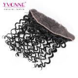 Frontal riccio italiano umano malese del merletto dei capelli 13.5*4 del Virgin di Yvonne