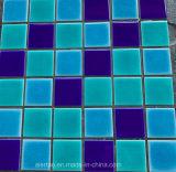 tegel van het Mozaïek van het Porselein van de Ritselen van het Ijs van 48X48mm de Blauwe Ceramische voor Decoratie, Keuken, Badkamers en Zwembad