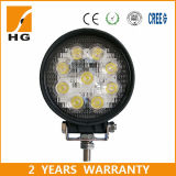 Indicatore luminoso 27W del lavoro del LED 4 pollici per le automobili del carrello elevatore dei camion