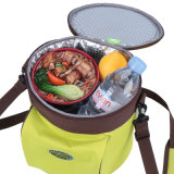 Рука носит мешка Thermos еды содержания мешка охладителя пикника мешки 6L обеда пакета льда мешка охладителя еды свежего большого термально