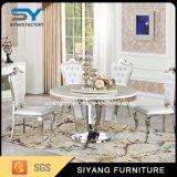 Tabella pranzante di marmo rotonda della mobilia del ristorante di alta qualità