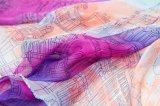 Longue écharpe de soie de Madame Silk Chiffon Custom Print de mode
