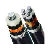 (12) Kv 6.35/11 trois principaux de cuivre avec isolation XLPE Câbles blindés de bandes en acier galvanisé