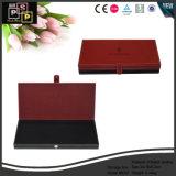 Un emballage cadeau en cuir rouge de gros de la boîte de rangement (6037)