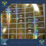 Los números de serie negra pegatina holograma láser