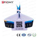 RFIDの小さい札が付いている習慣によって編まれるリスト・ストラップ