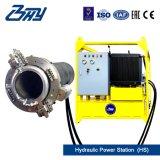 """4 """" - 8 """"のためのOd取付けられた携帯用油圧ディーゼル分割されたフレームまたは管の切断そして斜角が付く機械(114.3mm-219.1mm)"""
