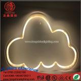 Segno al neon d'attaccatura della nube di stella di illuminazione della decorazione di natale del LED