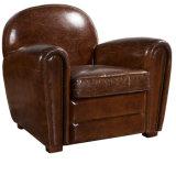 標準的で贅沢な革ホテルクラブアーム椅子の時代物の家具(QS-621)