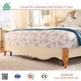 Домашняя кровать древесины дуба мебели спальни двойная с Headboard штанги