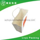 Sacos de compra de papel relativos à promoção, saco de portador do papel de embalagem de Brown