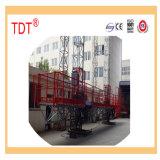 Plataforma de trabalho de escalada de /Elevating da plataforma de trabalho do mastro de Tdt