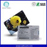 Carte de code barres de PVC d'adhésion de la taille Cr80 normale
