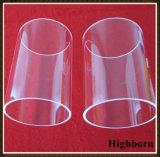 El cuarzo transparente de pulido de la silicona suena el borde para el producto que fuma