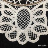 27*25см красивые сетки молоко белой хлопчатобумажной ткани цветок Venise кружева швейных Applique DIY Craft U-растворимых кружевной воротник женская одежда аксессуары Hm2026