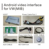 Sistema de navegación GPS Android Caja para Volkswagen Sharan Video Interface