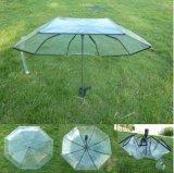 직물 가장자리를 가진 도매 주문 로고 인쇄 공간 우산