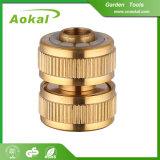 """安い固着のカップリングの庭の再使用可能な3/4の""""真鍮の管付属品"""