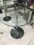 円形の明確なガラスコーヒーテーブル