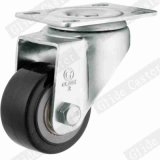 65mm PU 바퀴 빛 의무 피마자 (검정) (G2203)