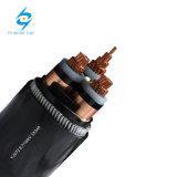 câble de cuivre 1-35kv ou en aluminium engainé par PVC souterrain de XLPE