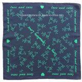 I prodotti della fabbrica della Cina hanno personalizzato il Bandana di Headwrap del cotone di Paisley dell'azzurro di blu marino della stampa di marchio