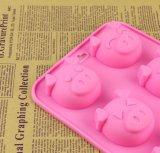 Moulage de savon de silicones de catégorie comestible de 6 cavités