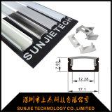 Ral9010 hing weiße angestrichene Streifen-Profil-Oberfläche des Aluminium-LED ein