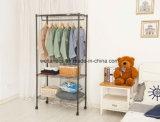 OEM de Draagbare Organisator van de Kast van het Kledingstuk van het Metaal van de Slaapkamer van Ikea van het Rek van de Garderobe
