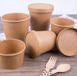 Biodegradierbar gehen Salat-Behälter-Wegwerfpackpapier-Cup