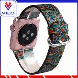 Stile etnico 38/42 di millimetro della pelle bovina di cuoio genuino del commercio all'ingrosso per i cinturini di vigilanza del Apple