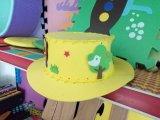 스포츠 모자 EVA 노란 산업 거품 주문 로고 융기 모자
