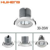 ÉPI élevé Downlight du lumen 35W du découpage enfoncé par aluminium réglable 145mm