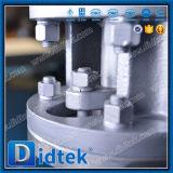 Válvula de mariposa compensada de la oblea del engranaje de Didtek del triple caliente de Wcb