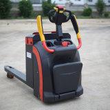 Польностью электрическая тележка паллета с педалью и подлокотником