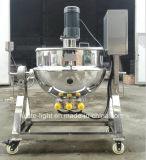 Atasco industrial del acero inoxidable de 200 litros que cocina la caldera con el mezclador