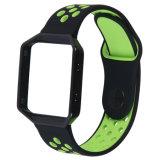 De in te ademen Dubbele Band van het Horloge van het Silicone van Kleuren met het Frame van het Metaal voor Uitbarsting Fitbit