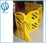 Barreira plástica portátil provisória vermelha/amarelo para a segurança de estrada