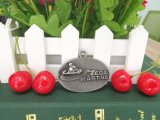 Esmalte de plata de encargo de deportes Finisher medallones en forma redonda