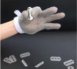 Garantie de gants de travail de sûreté de maillon de chaîne d'acier inoxydable de prix usine en stock